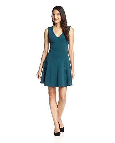 Adelyn Rae Women's V-Neck Fit-and-Flare Dress
