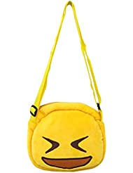 EMOTICON Yellow Colour Sling Bag By JDK NOVELTY (BGSL3951G)
