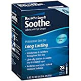 Bausch & Lomb Soothe Preservative Free Lasting Lubricant Drops 28 ct