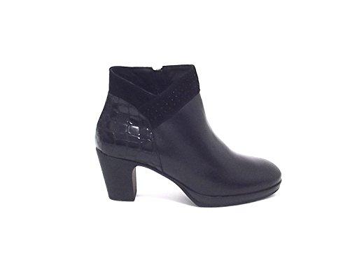 Susimoda scarpa donna, 8439, tronchetto pelle nera nr 37 A6102