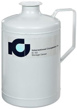 International Cryogenics IC-5D Liquid Nitrogen Storage Dewar, 5 Liter Capacity, Includes Neck Insert