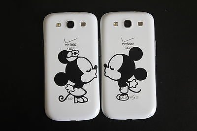 Smart Phone Decals, Iphone 5, 4S & 4, Samsung Galaxy S3: Minnie Mouse Kissing front-973223