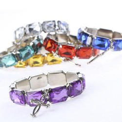 Package of 12 Gems of Joy Cross Bracelets - 1