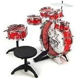 11pc Kids Boy Girl Drum Set Musical Instrument Toy Playset RED