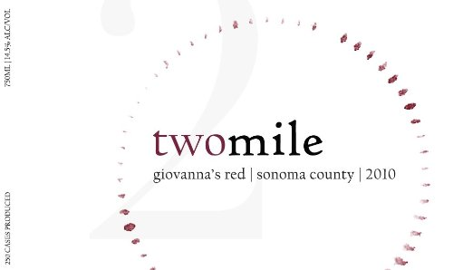 2010 Two Mile Giovanna'S Red Sonoma County Red Wine 750 Ml