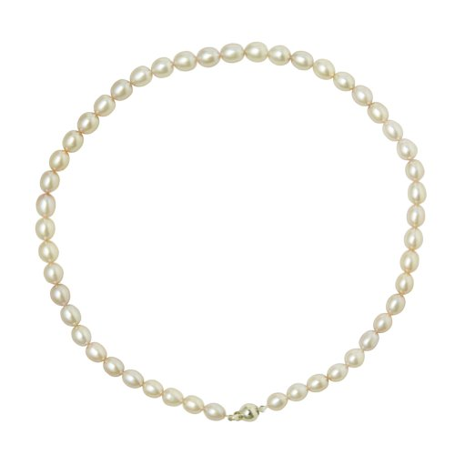 Freshwater Cultured 6-7mm White Pearl Necklace, 16