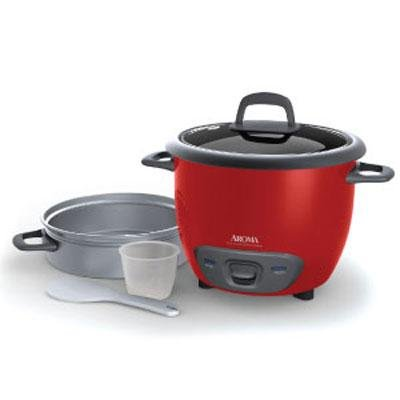 Aroma ARC-743-1NGR 6-Cup Pot-Style Rice Cooker & Food Steamer from Aroma