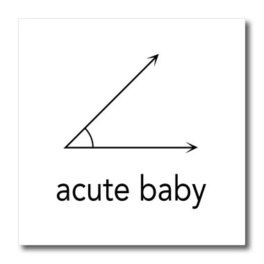 Ht_123039_1 Evadane - Baby Newborn Quotes - Acute Baby. Geometry. Math Humor - Iron On Heat Transfers - 8X8 Iron On Heat Transfer For White Material front-236559