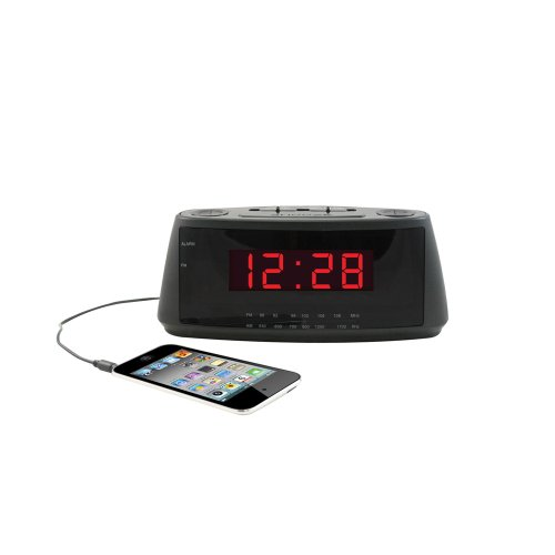 Hip Street HS-CR831 AM/FM Alarm Clock Radio (Black)