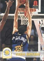 Chris Gatling, Golden State Warriors, 1994 Skybox Autographed Card