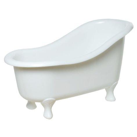 deko badewanne kunststoff wei 26x13x14cm. Black Bedroom Furniture Sets. Home Design Ideas