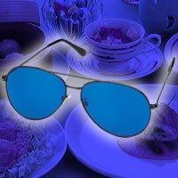 青色ダイエットめがね(青色めがね)食べる5分前に使用でダイエット 青色アイグラス リラックスで食欲を抑える 青色めがねダイエット