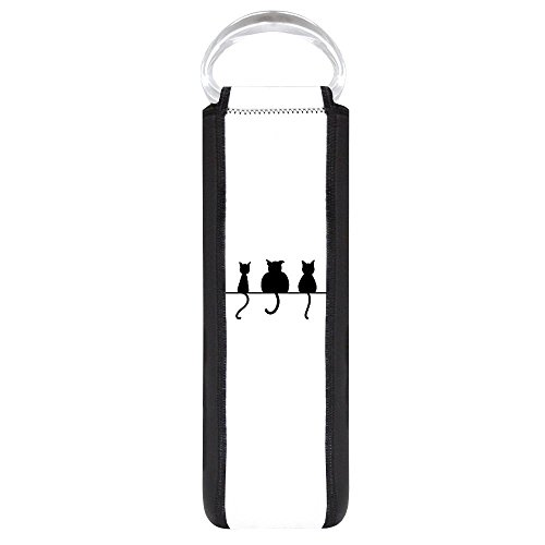 Wine Tote Bag Three Black Cats on a Wall