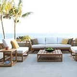 Maya Teak Luxury Patio Furniture Sofa Set