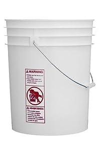 5 - Brand New 5 Gallon Plastic Food Grade Buckets with Tear Tab Lids
