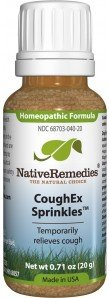 3 Bottles of Native Remedies CoughEx SprinklesTM Homeopathic Remedy to Relieve Symptoms of Croup in Babies and Children such as Barking Cough - 20g in each Bottle