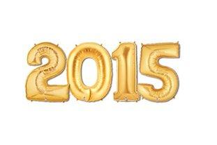 "2015 Gold 16"" Mylar Balloons - 1"