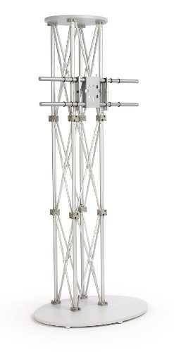 Displays2Go Tvtruss74V2 Aluminum Truss Portable Tv Stand For 60-Inch Monitors, Silver