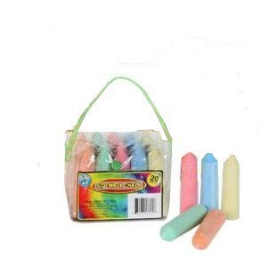 Giant Sidewalk Chalk 20 Count 5 Colors