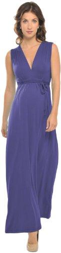 Olian Sleeveless Maxi Dress - True Blue-Small