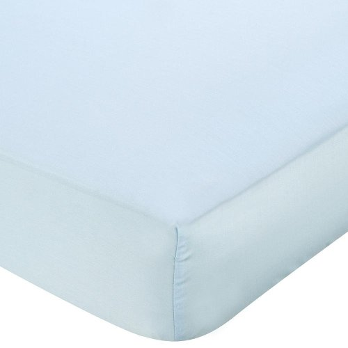 Babies R Us Silky Tencel Crib Sheet - Light Blue - 1