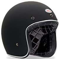 Bell Custom 500 Open-Face Motorcycle Helmet Large Matte Black Solid by Bell