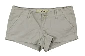 Hollister Women's Low Rise Chino Short Shorts (3/w26, Light Khaki)