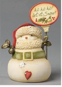 Heart Of Christmas Ho Ho Ho Let It Snow! Mini Snowman Figurine
