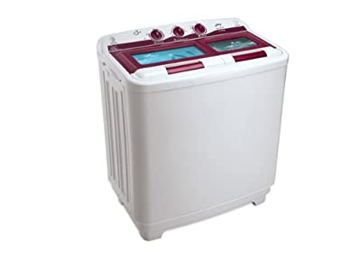 Godrej GWS7202PPI Semi-Automatic Top-loading Washing Machine (7.2 Kg, White and Maroon)