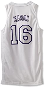 NBA Los Angeles Lakers Winter Court Big Color Swingman Jersey, #16 Pau Gasol, White by adidas
