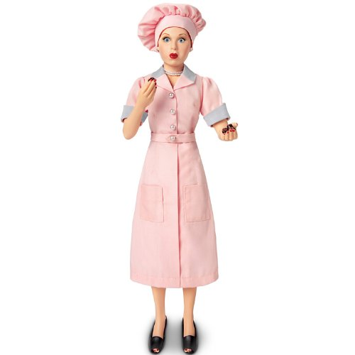 I LOVE LUCY Job Switching Fashion Lucille Ball Talking Doll by Ashton Drake