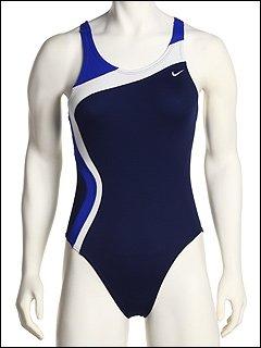 538a97e41c5b6 Buy Nike Swim Women s Color Swirl Fast Back Tank Swimsuit - Midnight Navy  30 at Best Price