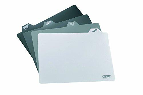 GEFU GE12750 Misurino Planche à Découper Flexible Plastique Noir 38,1 x 30,5 x 0,3 cm Set de 4 Pièces