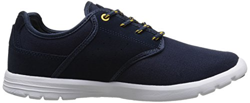 C1RCA Men's Atlas Skate Shoe, Navy/Gold, 13 M US