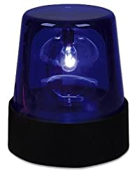 "7"" Rotating Blue Party Beacon DJ Strobe Light Lamp from Rhode Island Novelty"