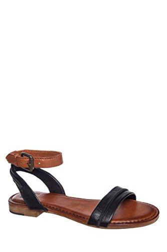 Phillip Seam Ankle Strap Low Heel Sandal
