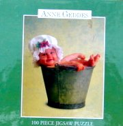 "Anne Geddes 100pc Mini Puzzle ""Baby Bucket"" - 1"