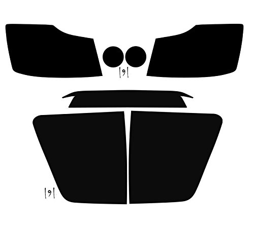 Subject 9 - Nissan Titan Pre-cut vinyl overlay Complete Headlight and Tail light PLUS kit (2004 2005 2006 2007 2008 2009 2010 2011 2012 2013 2014 2015) DARK (Nissan Titan Headlight Tint compare prices)