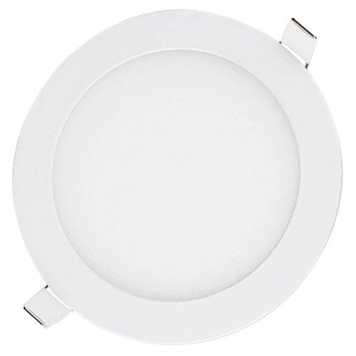 LED Panel Licht Ultraslim Einbau Strahler De Cken Leuchte Einbau Lampe Und Trafo (18W Runde WarmWeiß, 10 Stück)