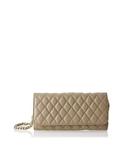 Zenith Women's Flap Over Quilted Cross-Body, Taupe