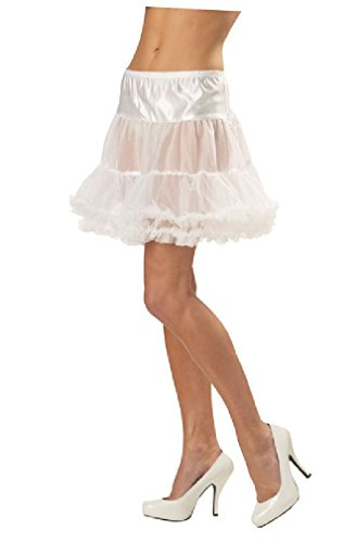 8eighteen Ruffled Pettiskirt Adult Costume Accessory (White) (Ruffled White Pettiskirt)