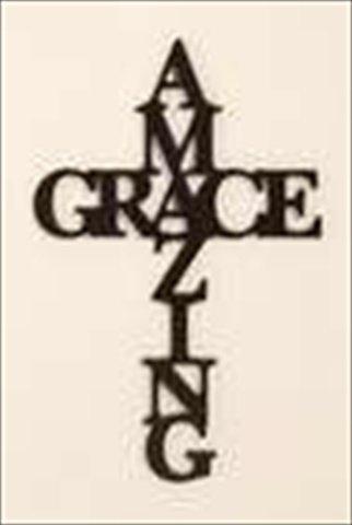 """""""Amazing Grace"""" Script Word Wall Art"""
