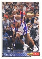 Rick Mahorn New Jersey Nets 1992 Upper Deck Autographed Hand Signed Trading Card -... by Hall+of+Fame+Memorabilia