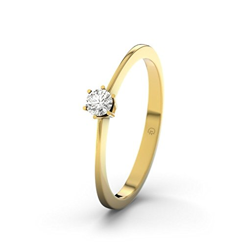 21DIAMONDS Auckland 0.1 ct Brilliant Cut Diamond Engagement Ring, 9ct Yellow Gold Ladies Engagement Rings