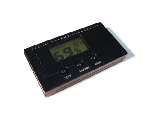 Prestige Import Group HYDIG Digital Hygrometer with Push Button Readings, Black - 1