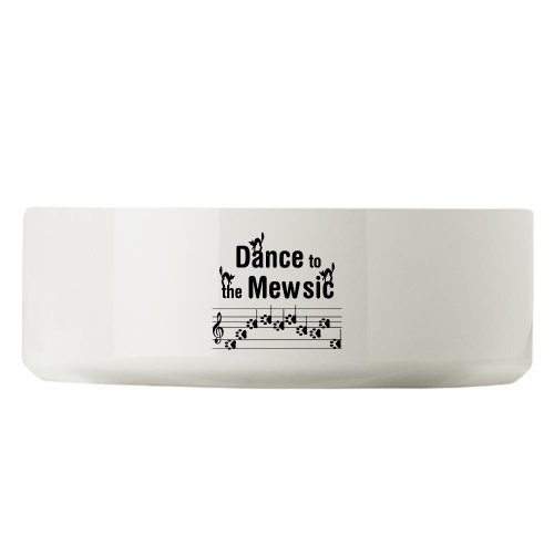CafePress Dance to the Mew Music Large Pet Bowl - Standard Multi-color