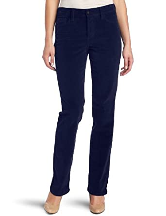 NYDJ Women's Marilyn Straight Leg Corduroy Jean, Deep Sapphire, 0