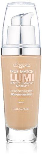 L'Oreal Paris True Match Lumi Healthy Luminous Makeup, Sun Beige, 1.0 Ounces