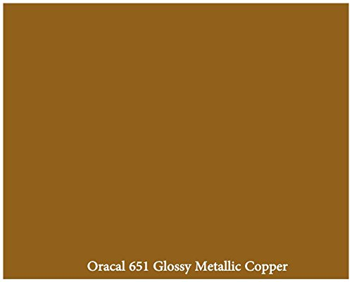 "12"" X 10 Ft Roll Of Glossy Oracal 651 Metallic Copper Repositionable Adhesive-Backed Vinyl For Craft Cutters, Punches And Vinyl Sign Cutters By Vinylxsticker front-917000"