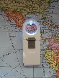 Task Vision 14X Led Hand Magnifier - Round Illuminated